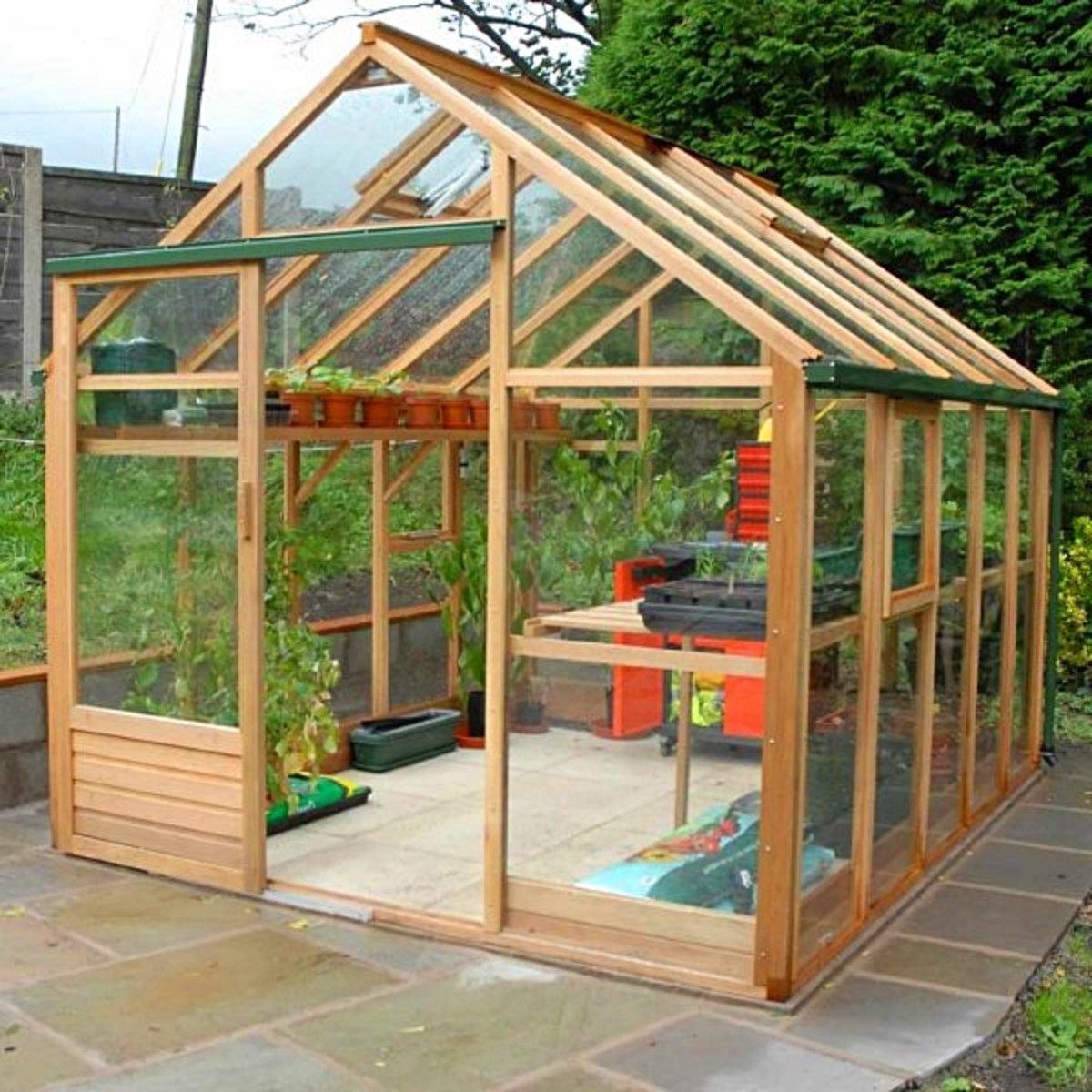 Greenhouse made of wood
