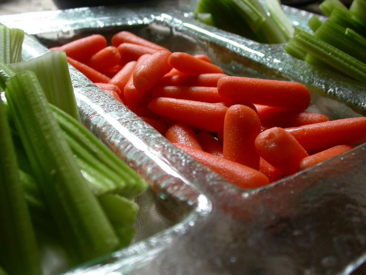 Some delicious but not deadly baby carrots.