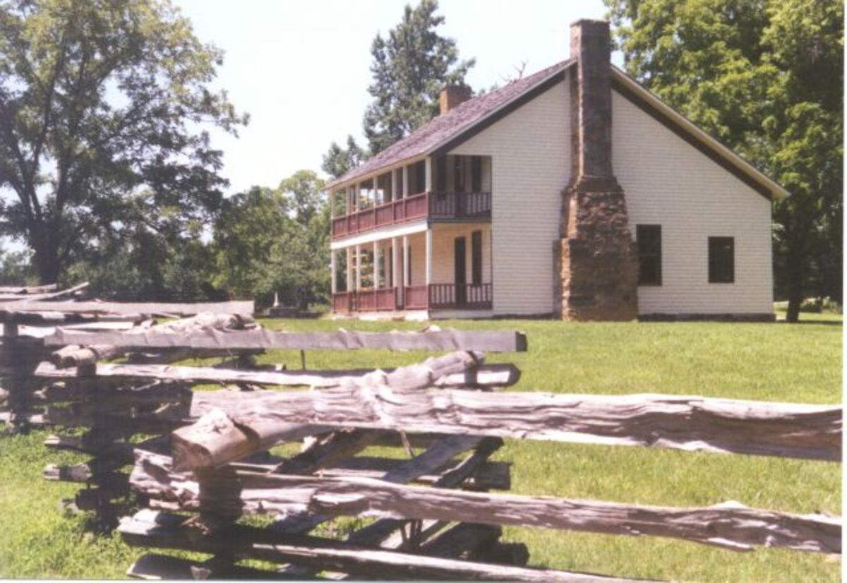 Elkhorn Tavern the scene of the most desperate fighting in the battle for Pea Ridge.