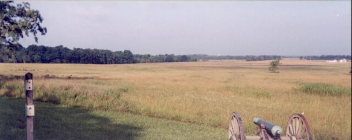 Open field near Leetown where the Confederate's cavalry charged union artillery.