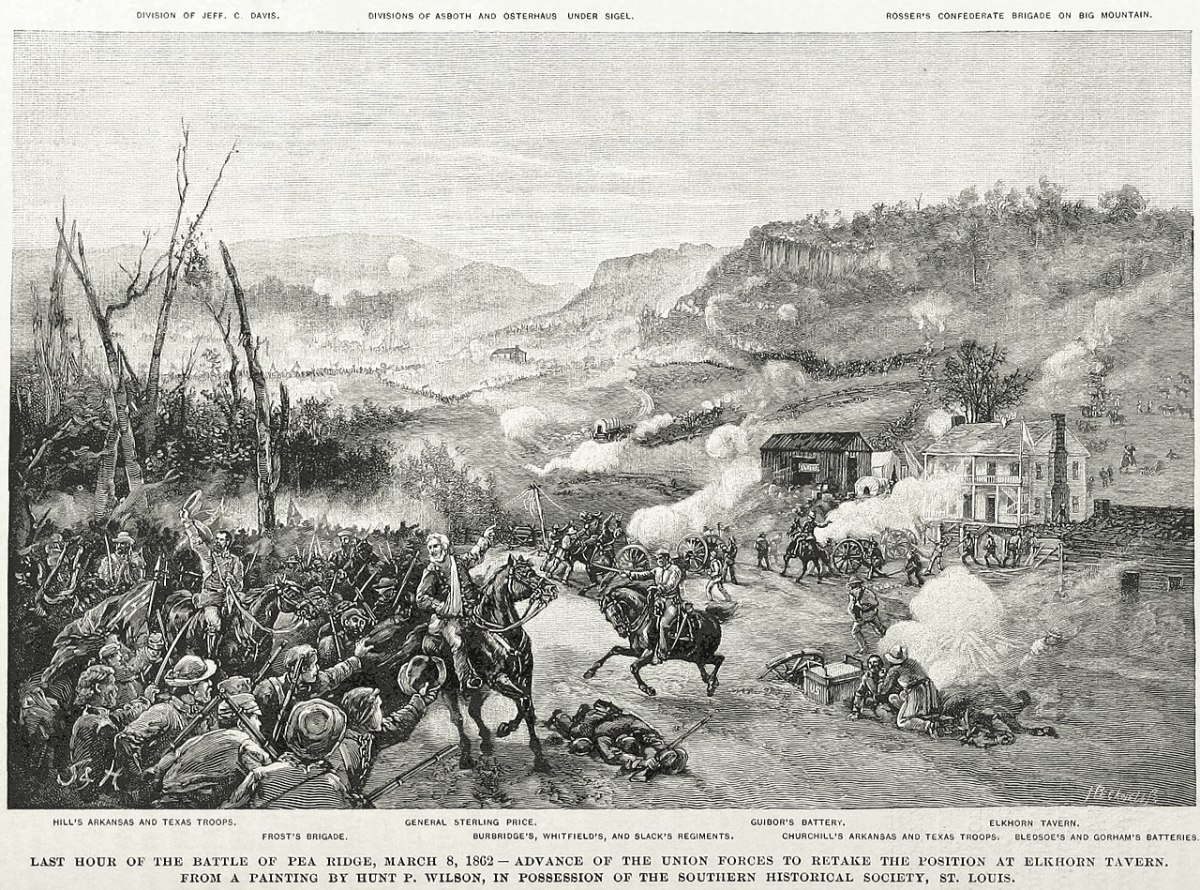 Confederate Army of the West Defeated at Pea Ridge March 7, 1862