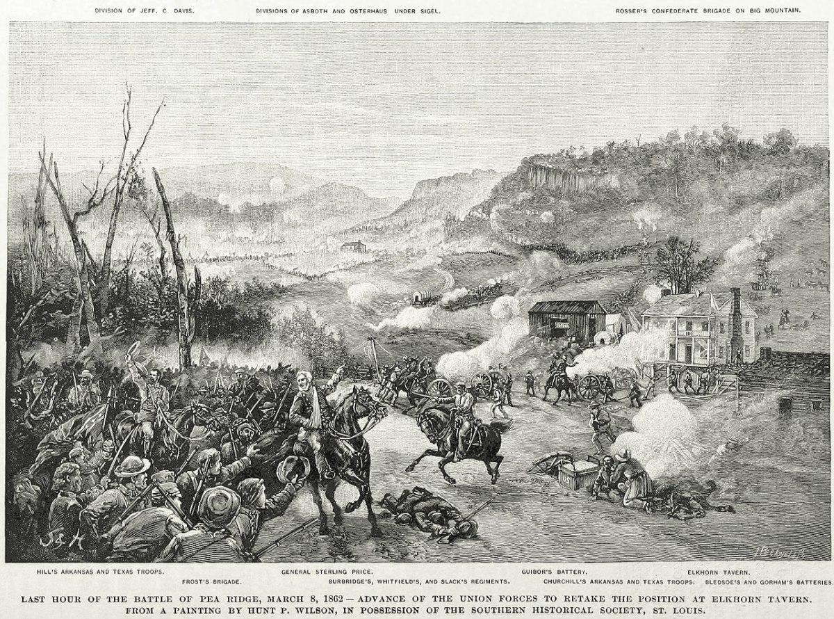 The Civil War's Largest Battle West of the Mississippi River: Pea Ridge Arkansas March 1862
