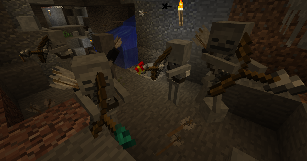 Skeletons are now equipped with quivers, and observant players can even tell what type of arrow they are going to fire.