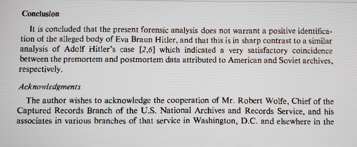 The conclusion of the forensic report.
