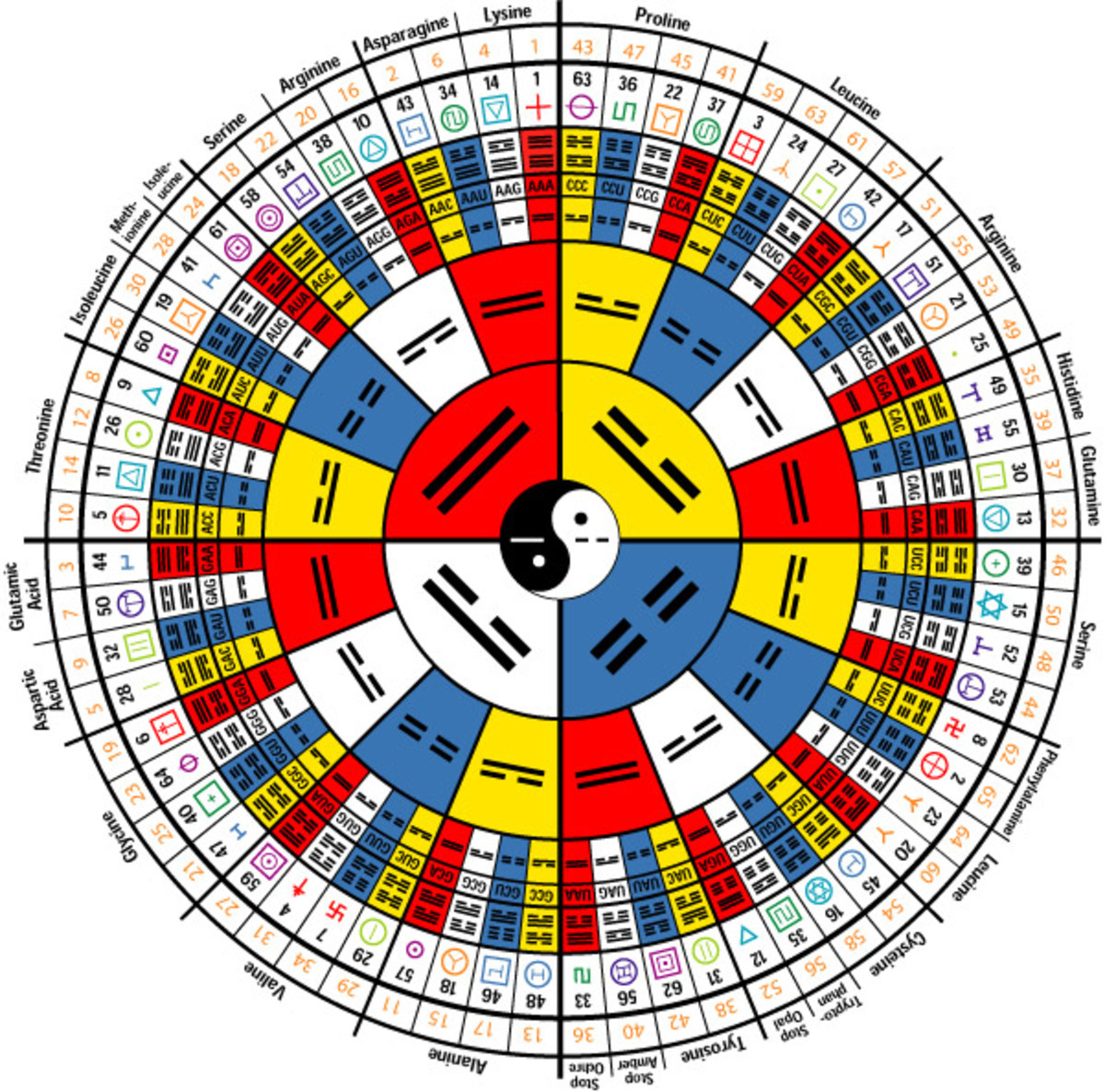 The I Ching or The Book of Changes, follows much of the double helix hexagrams similar to DNA.