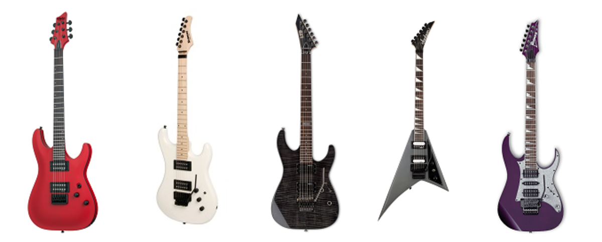 Top 5 best guitars for metal under 500$ - Schecter Stealth C - 1. Kramer Pacer Classic, LTD M-100FM, Jackson JS32 Randy Rhoads and Ibanez RG450DX