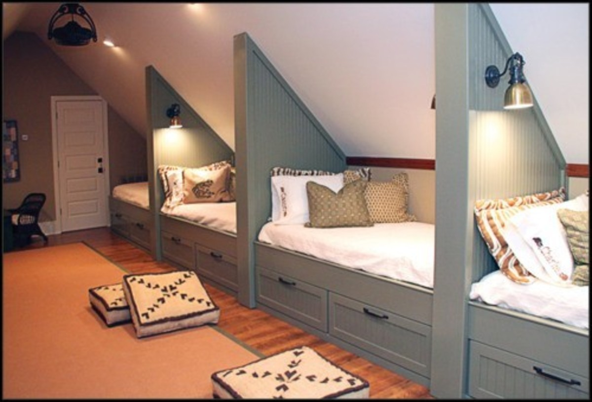 Home improvement built in bed for Cape cod attic bedroom ideas