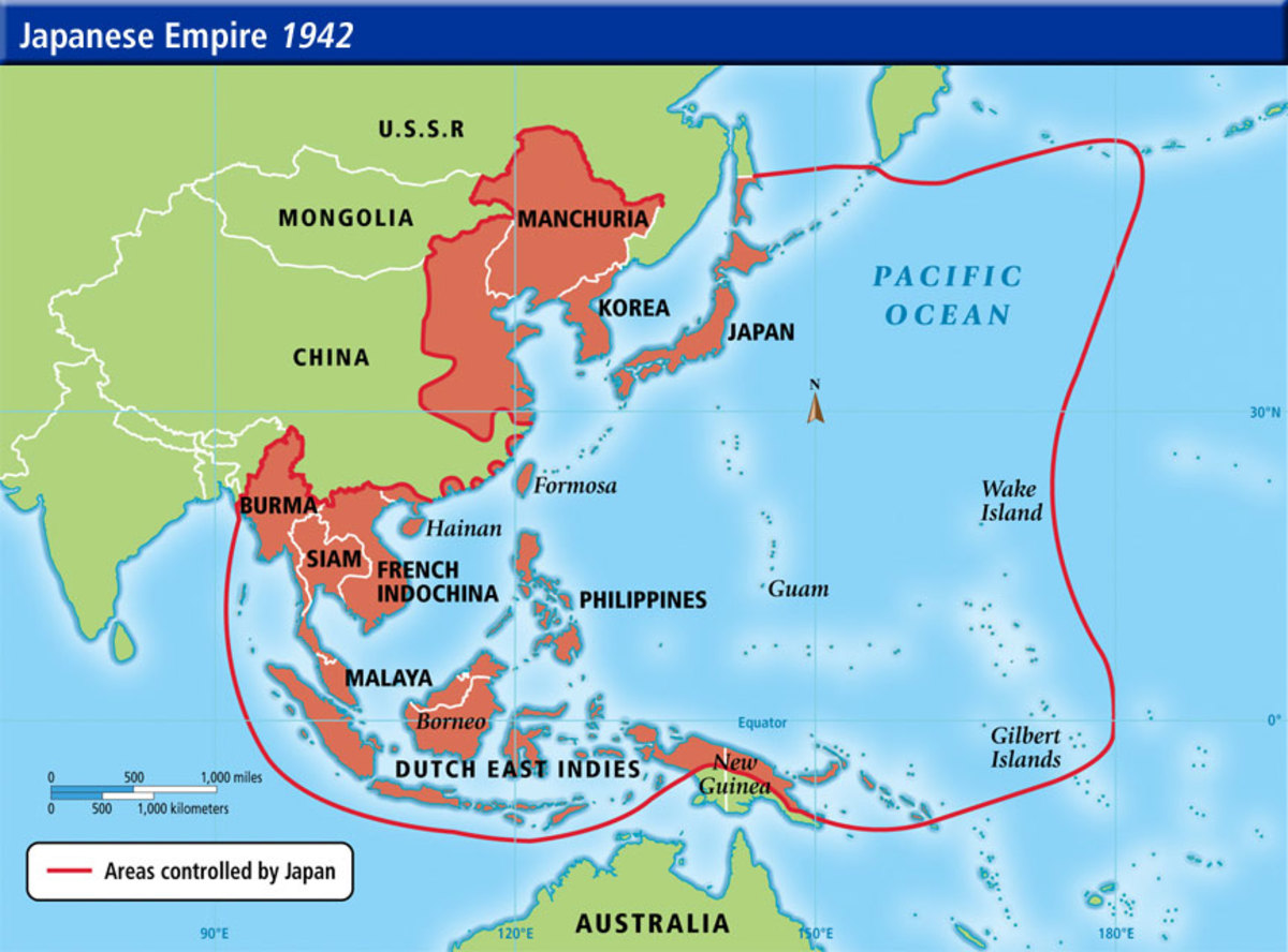 The height of Japan's conquest of the Asia-Pacific region.