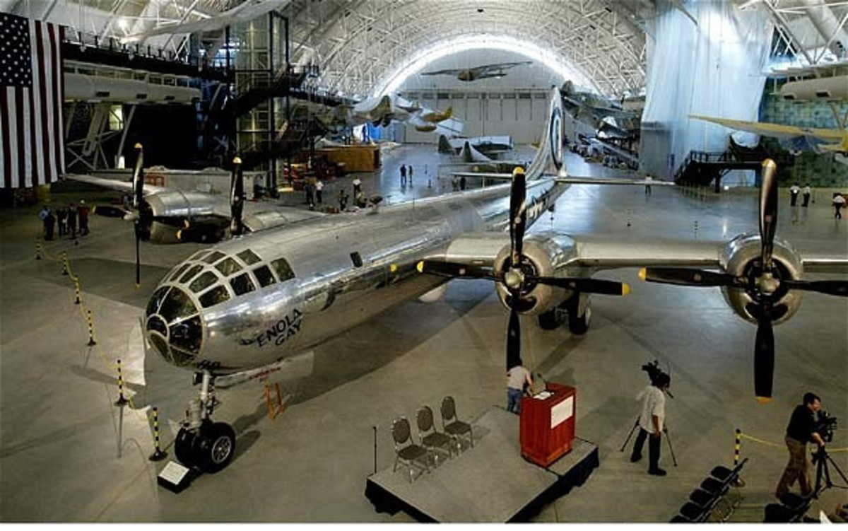 Replica of the Enola Gay at the Smithsonian Museum