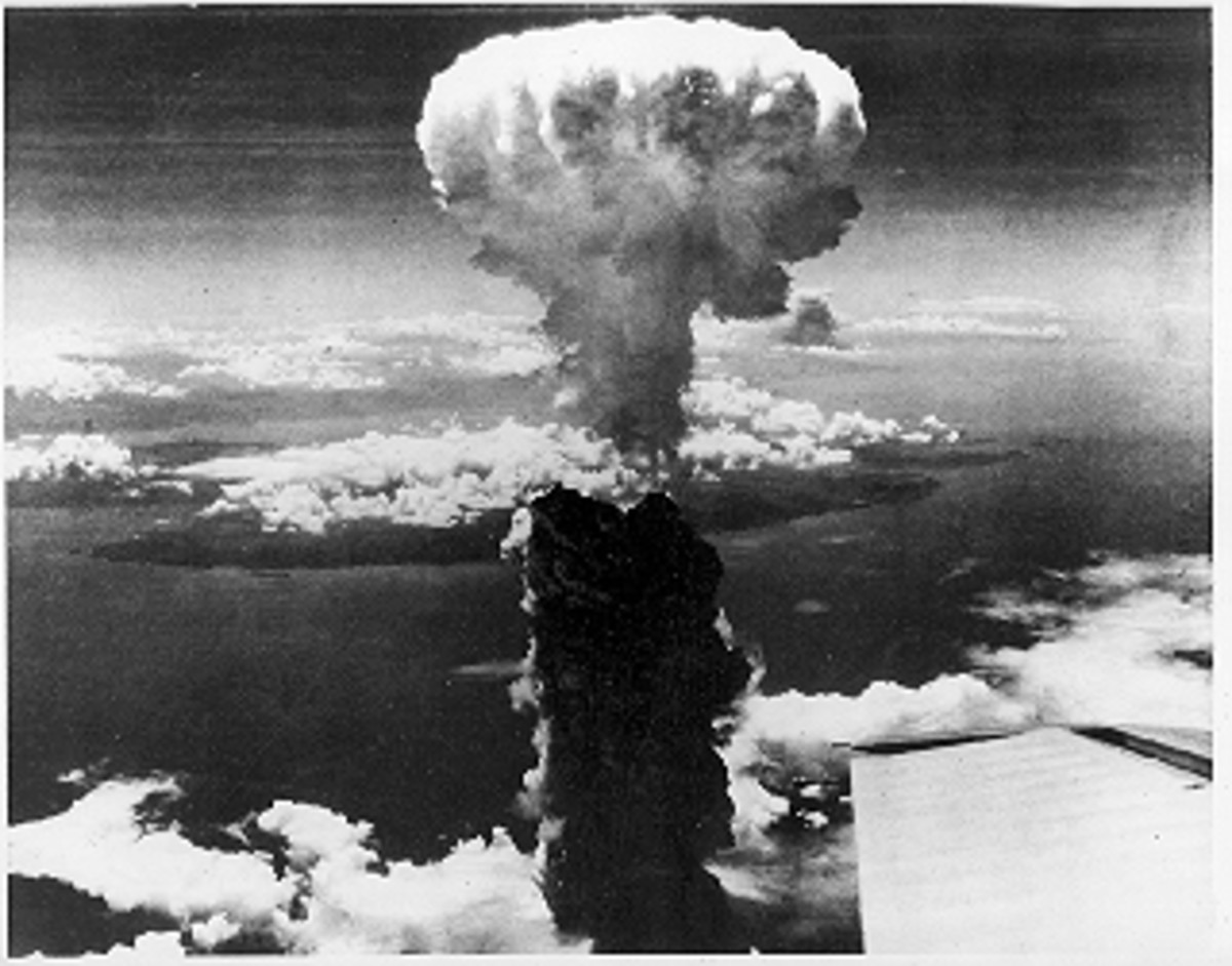 Picture taken over the skies of Hiroshima minutes after detonation.