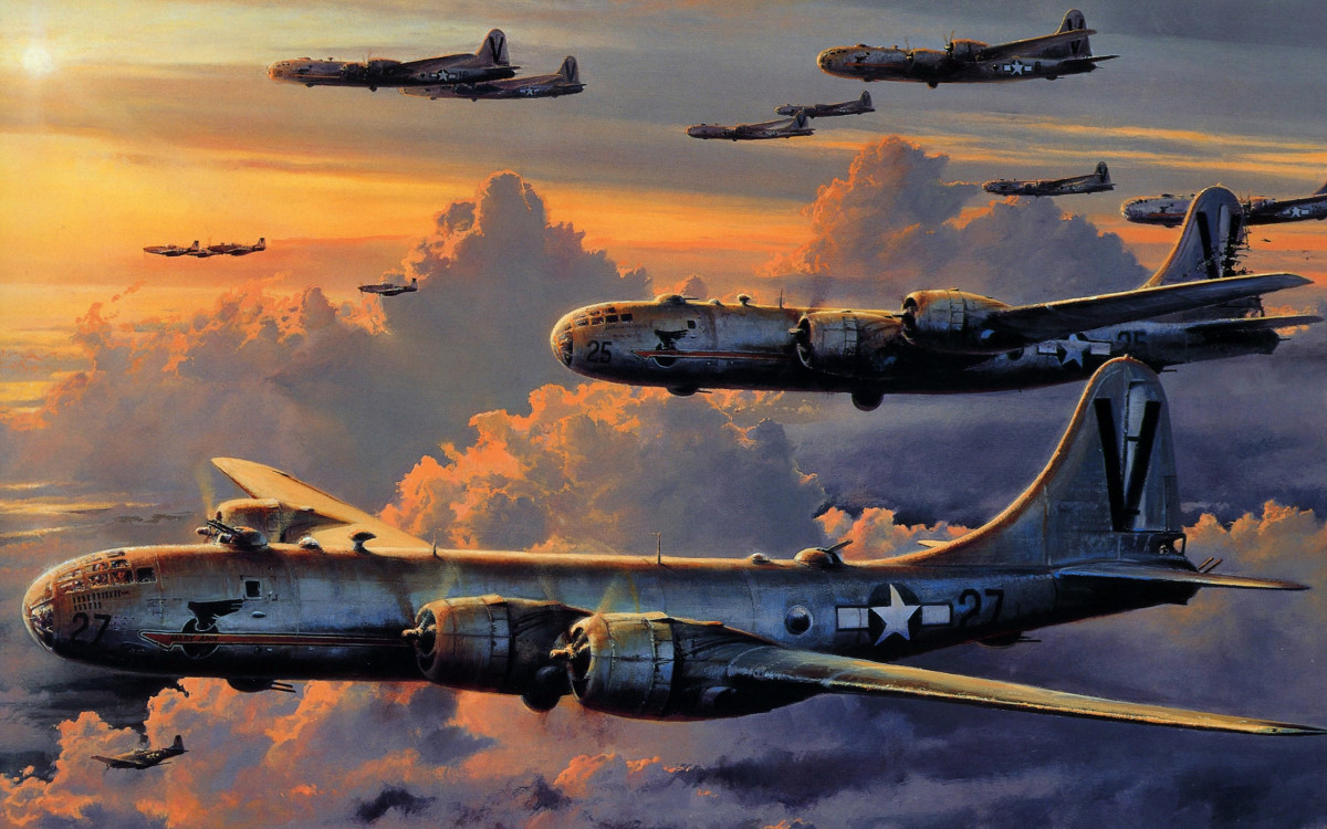 Painting of the B29 Bombers