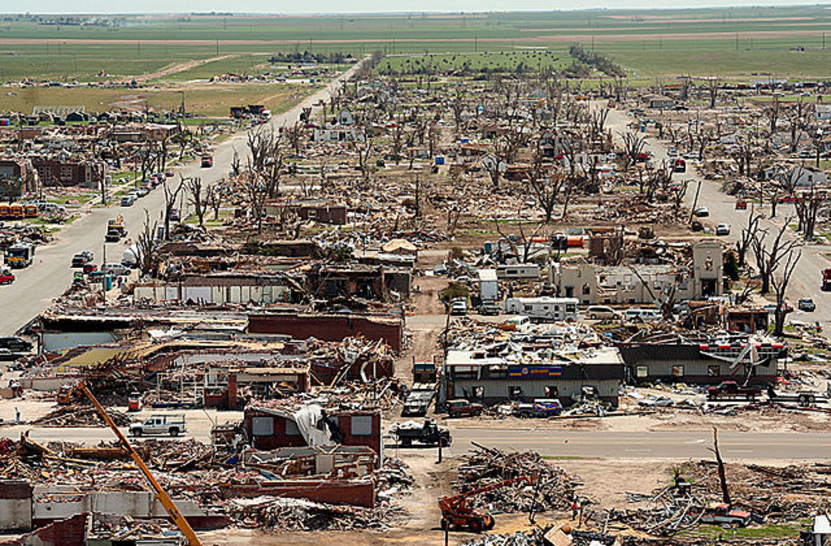 Aftermath of the Greensburg, Kansas EF 5 Tornado.