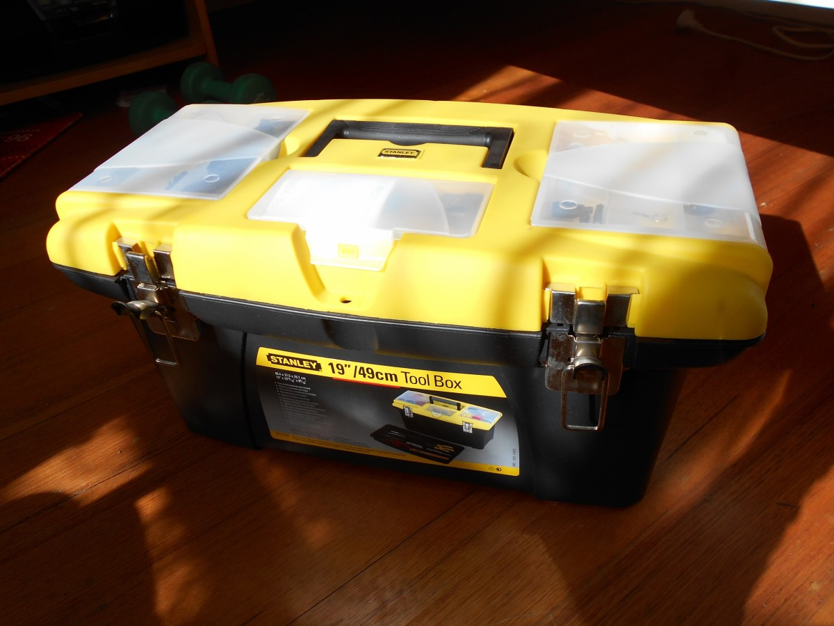 A big toolbox for all the tools and loose pieces of wires.