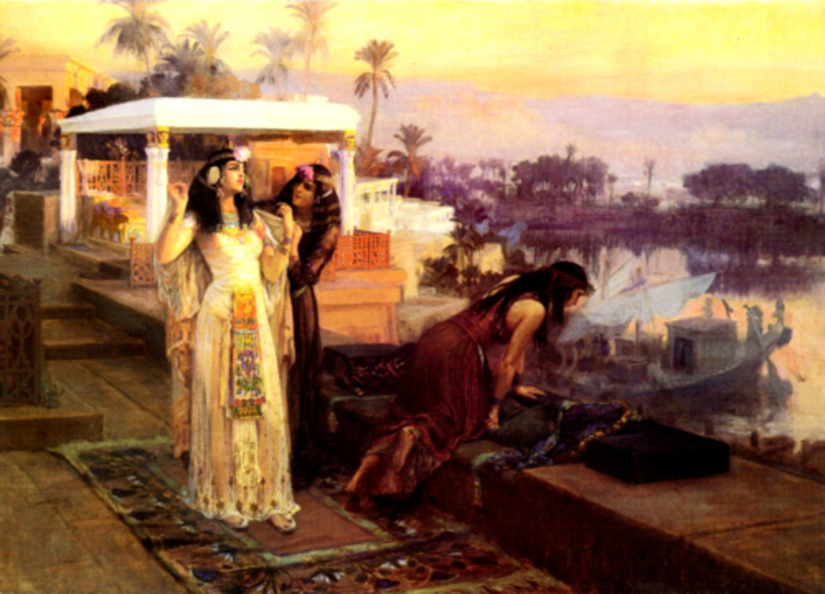 Cleopatra on the Terraces of Philae Frederick Arthur Bridgman PD-art-100