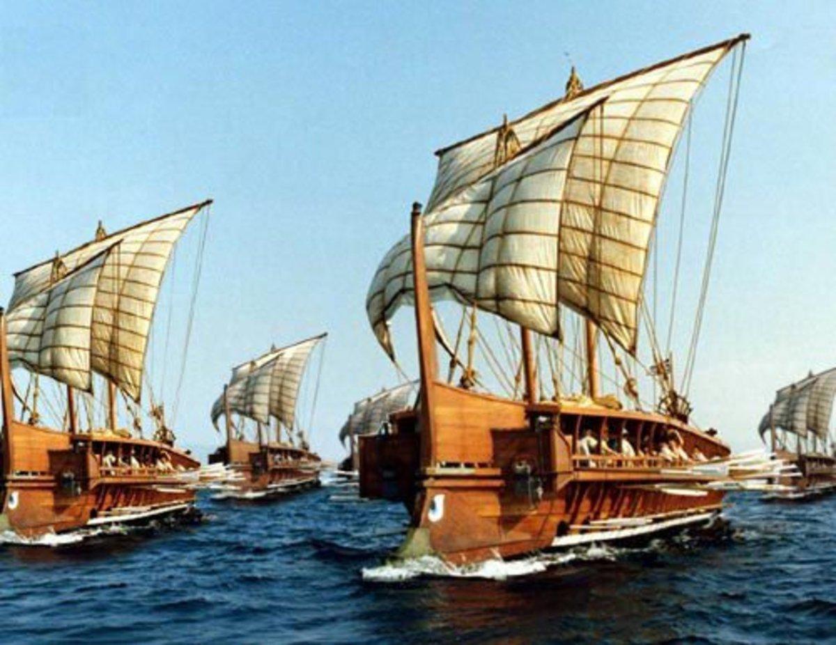 The Achaean Fleet Sets Sail - EDSITEment - PD US Government