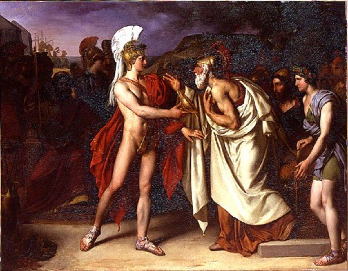 Nestor Counsels Achilles - Amable-Paul Coutan (1792-1837) - PD-art-100