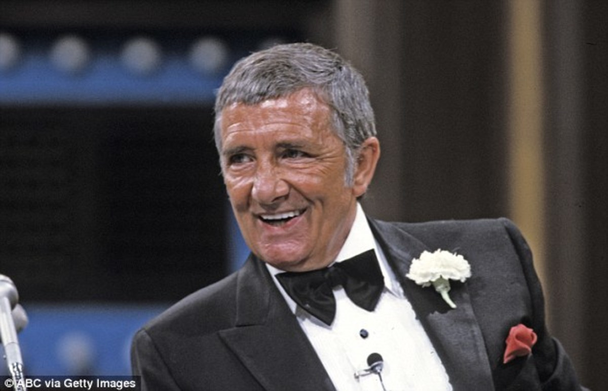 "The late Richard Dawson, host of Family Feud, who was afflicted with ""Kissing Addiction."""