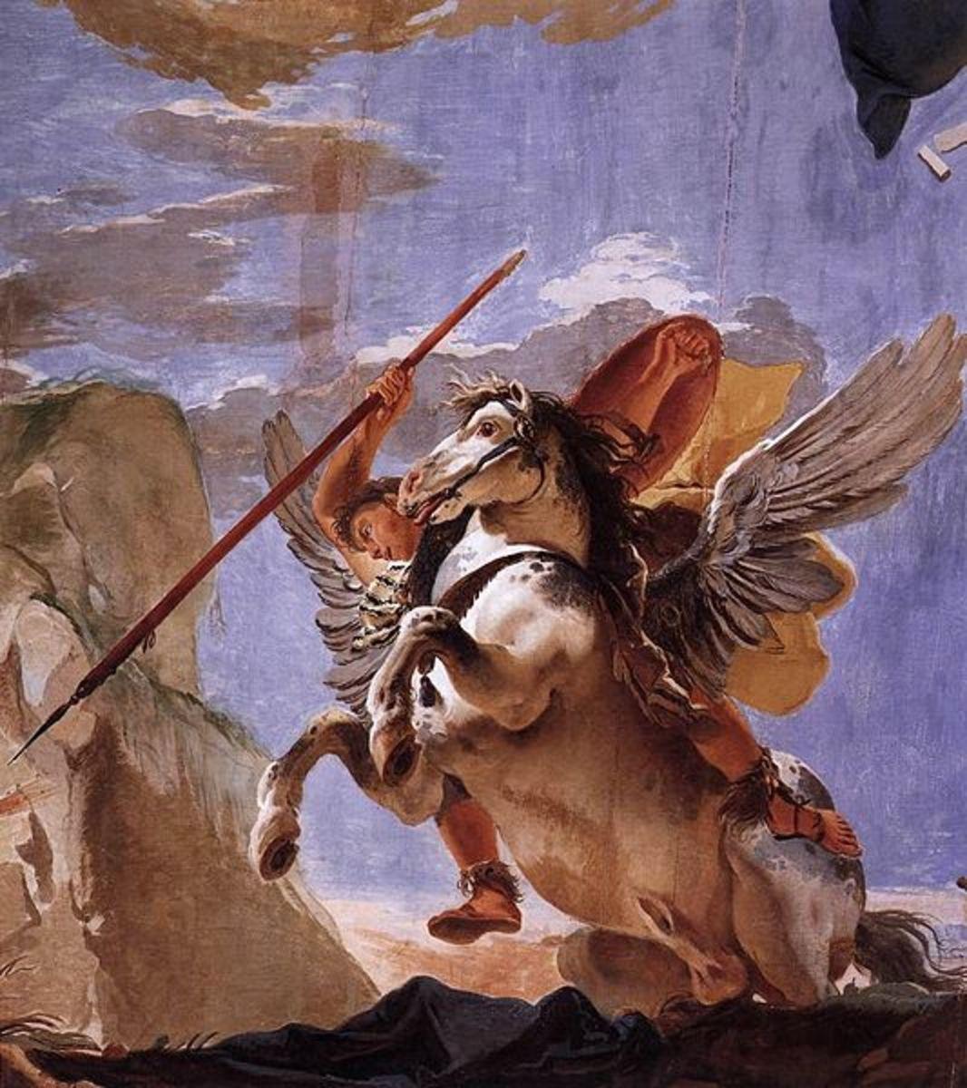 Bellerophon takes up his lance - Giovanni Battista Tiepolo (1696–1770) - PD-art-100