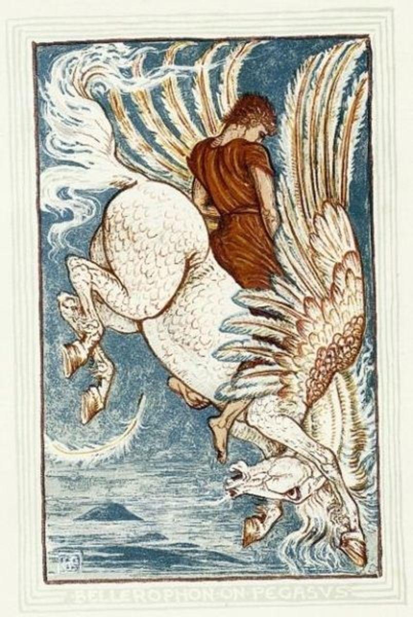 Bellerophon Falls to Earth - Walter Crane (1845-1915) - PD-art-100
