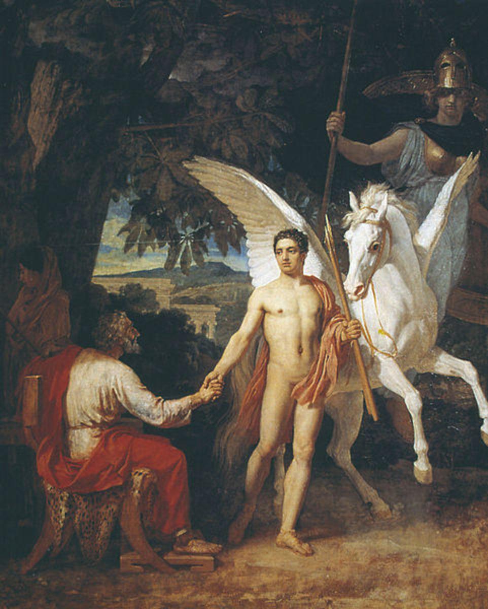 Bellerophon and Pegasus - Alexander Andreyevich Ivanov - PD-art-100