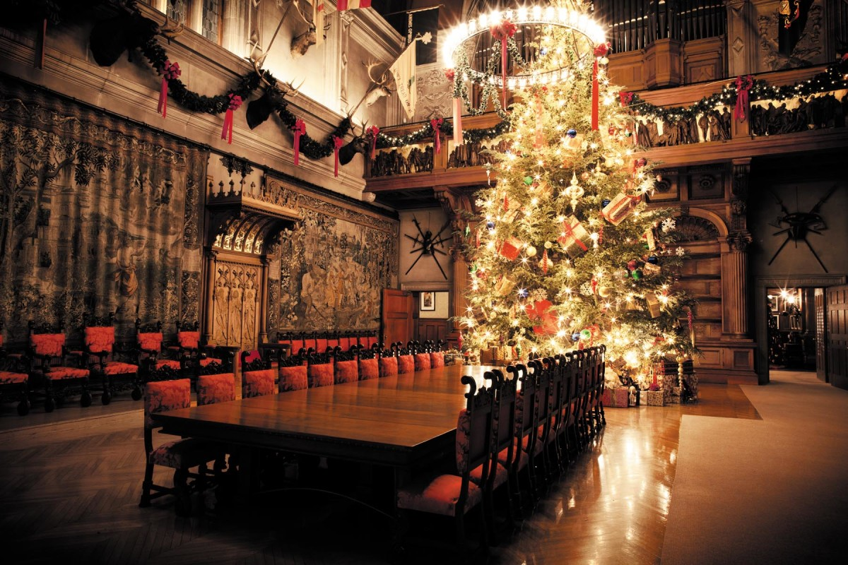 Biltmore House Asheville NC Banquet Hall Christmas Tree