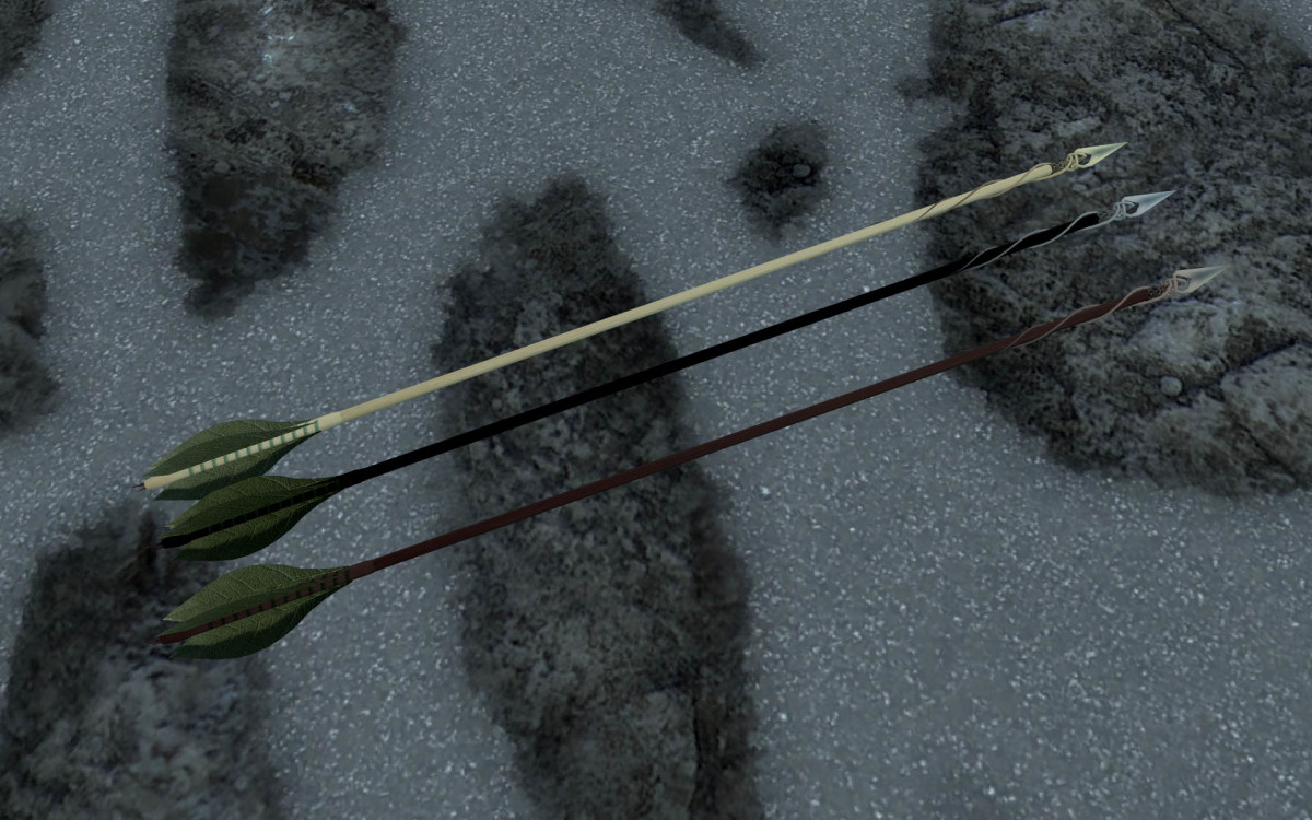 Nico's Craftable Arrows by Nicoroshi, a mod that adds craft-able arrows to Skyrim. Picture courtesy of Skyrim Nexus, Bethesda and Zenimax.