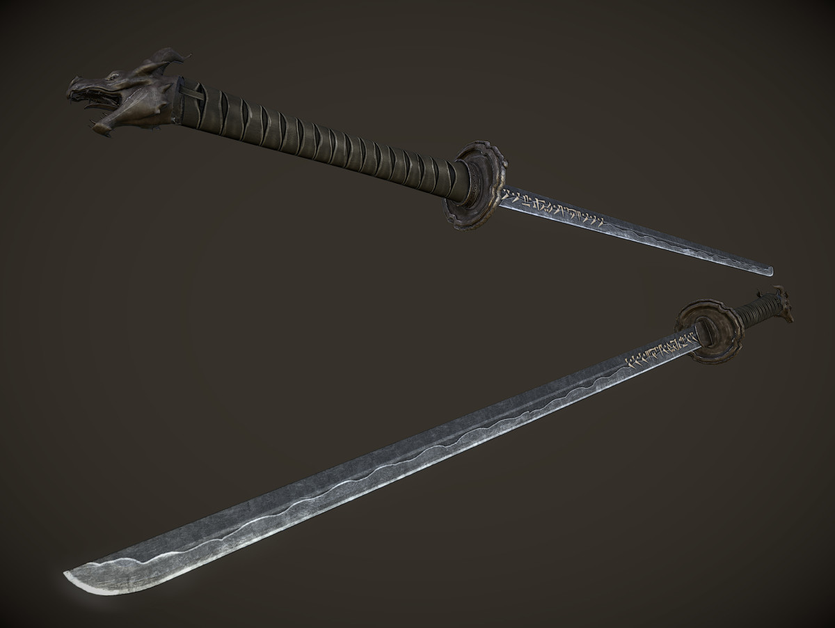 Unique Uniques by InsanitySorrow makes Skyrim's unique weapons look beautiful. Picture courtesy of Skyrim Nexus, Bethesda and Zenimax.