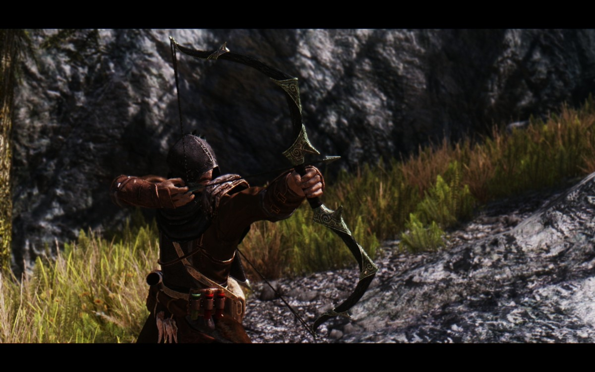 Svartbough by Atomic adds a stunning Orcish bow decorated by Nords to Skyrim. Picture courtesy of Skyrim Nexus, Bethesda and Zenimax.