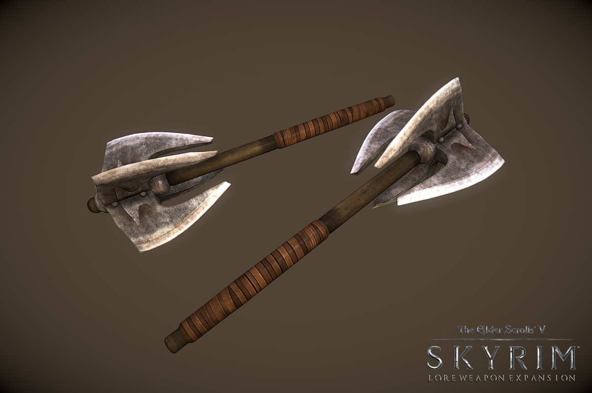 The mod Lore Expansion by by InsanitySorrow and Elvarheim adds weapons from Morrowind and Oblivion to Skyrim. Picture courtesy of Skyrim Nexus, Bethesda and Zenimax.