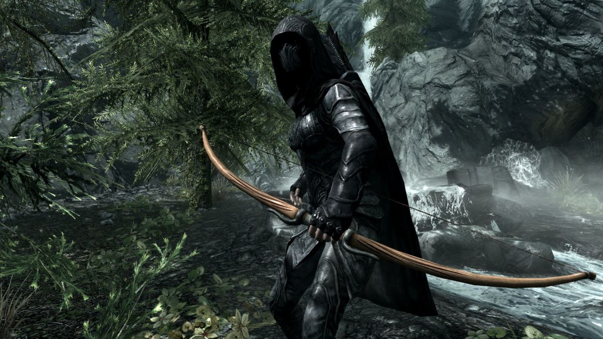 Bow of Shadows by Artisanix adds a Morrowind inspired bow to Skyrim. Picture courtesy of Skyrim Nexus, Bethesda and Zenimax.