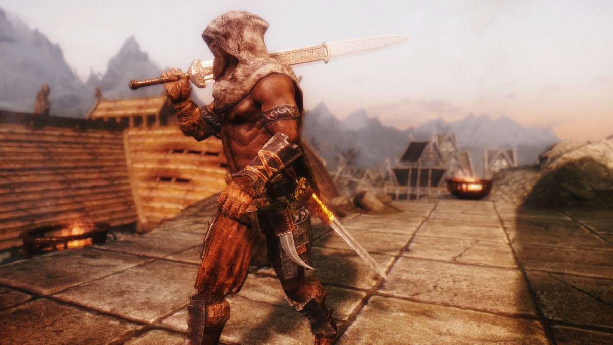 The Immersive Weapons mod by hothtrooper44 adds more than 200 new weapons to Skyrim. Picture courtesy of Skyrim Nexus, Bethesda and Zenimax.