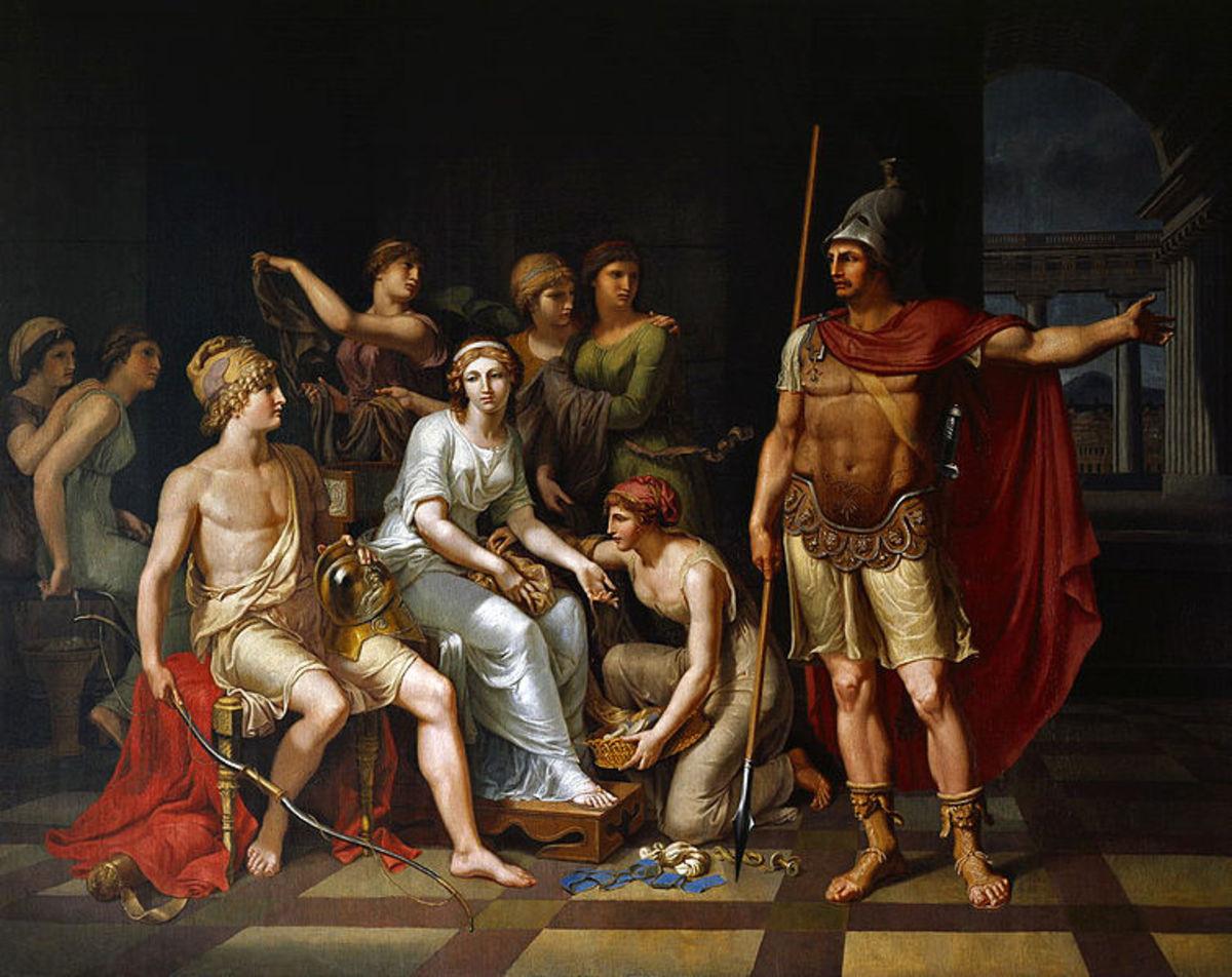 Paris and Hector - Johann Heinrich Wilhelm Tischbein (1751–1829)  - PD-art-100