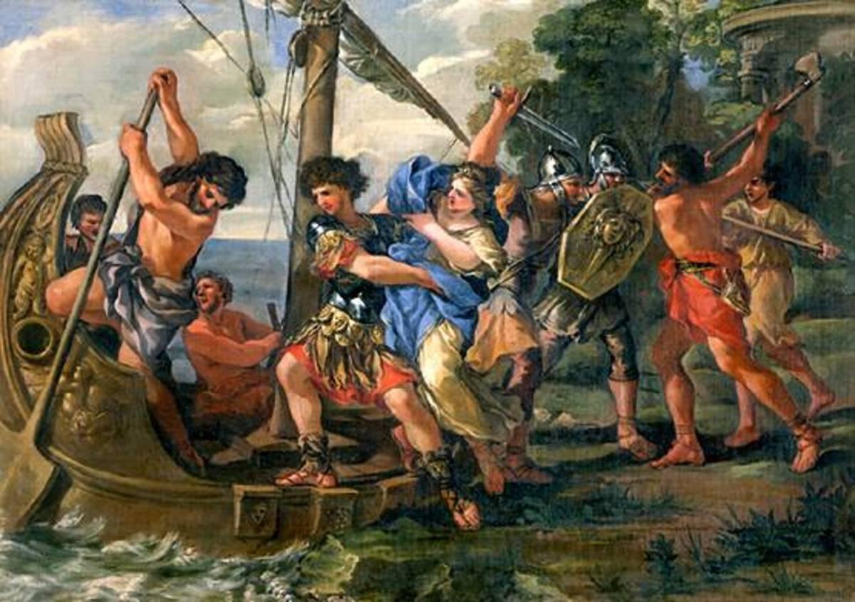 The Abduction of Helen - Giovanni Francesco Romanelli (1610–1662) - PD-art-100