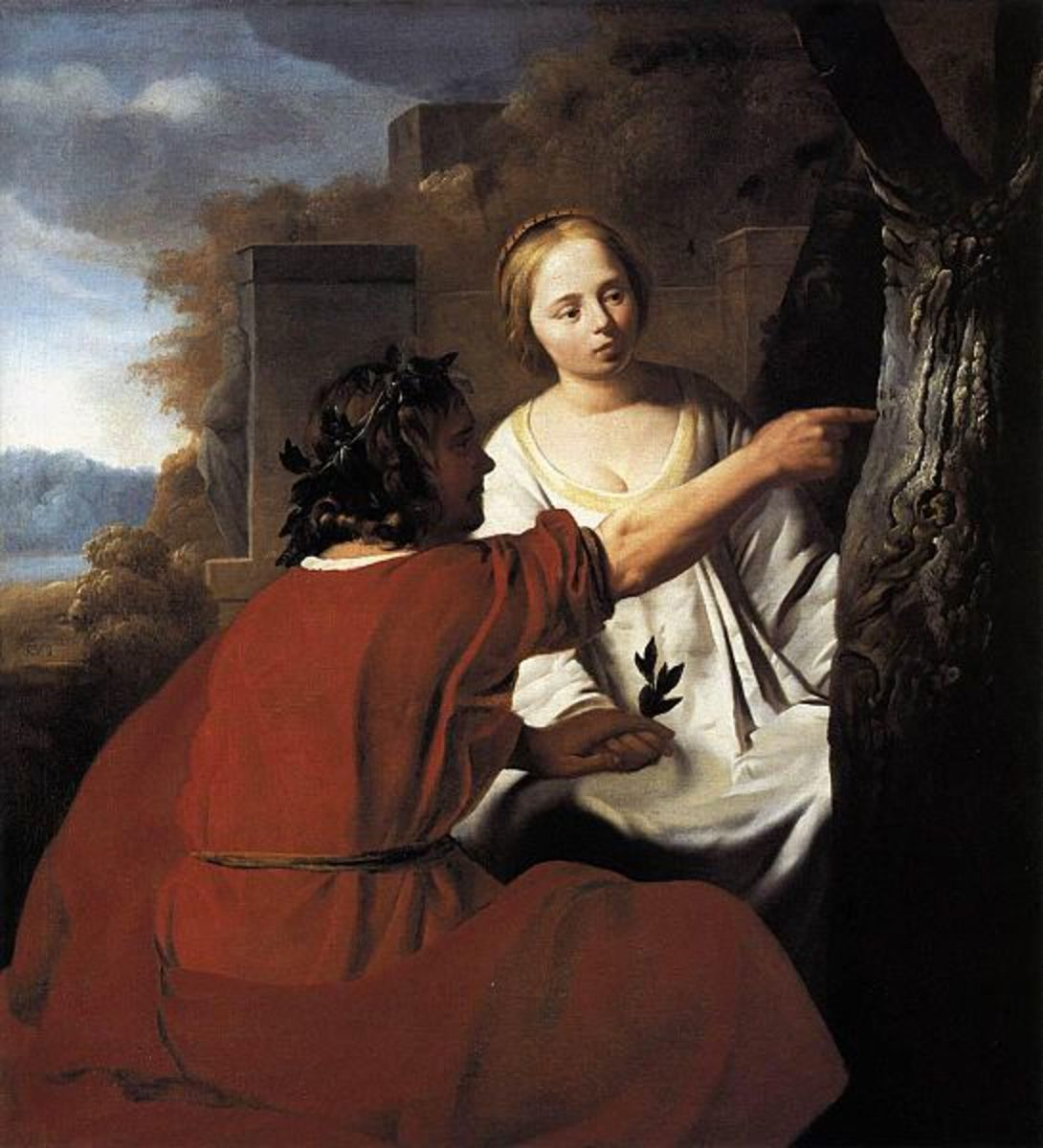 Paris and Oenone - Reyer Jacobsz. van Blommendael (1628–1675) - PD-art-100