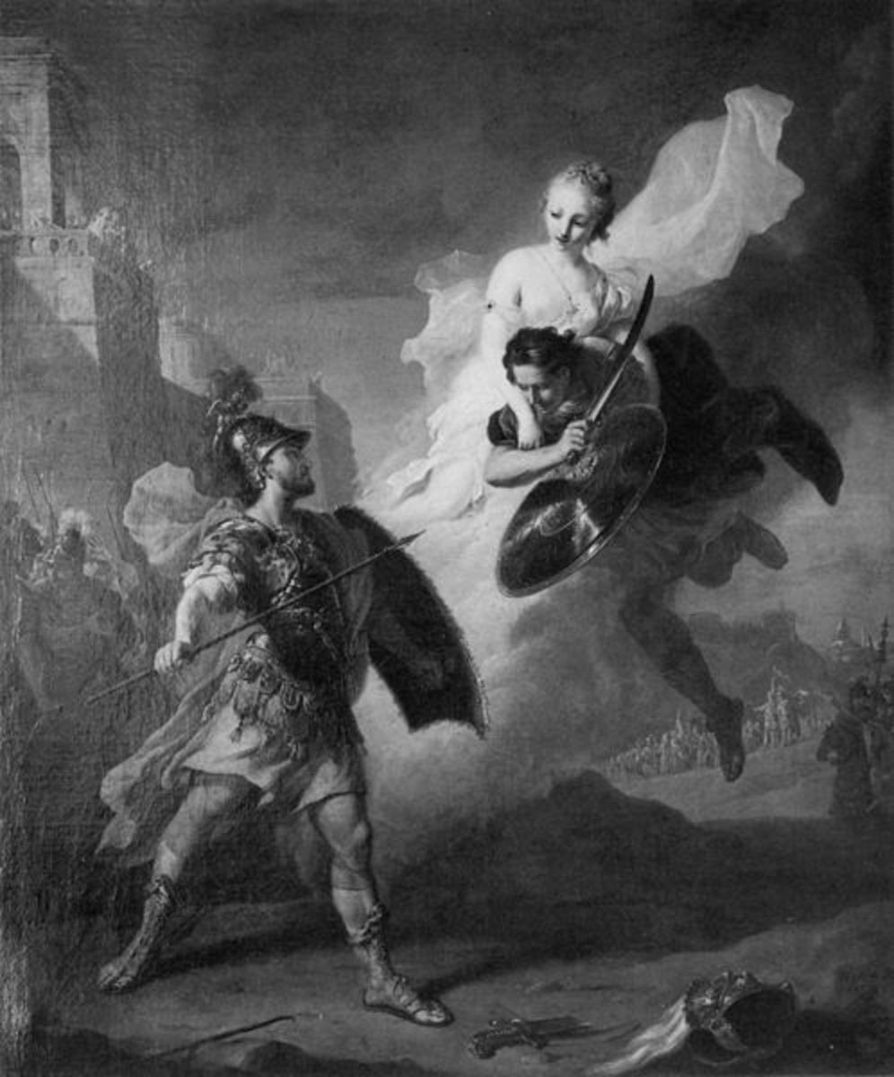 The Rescue of Paris - Johann Heinrich Tischbein the Elder (1722–1789) - PD-art-100