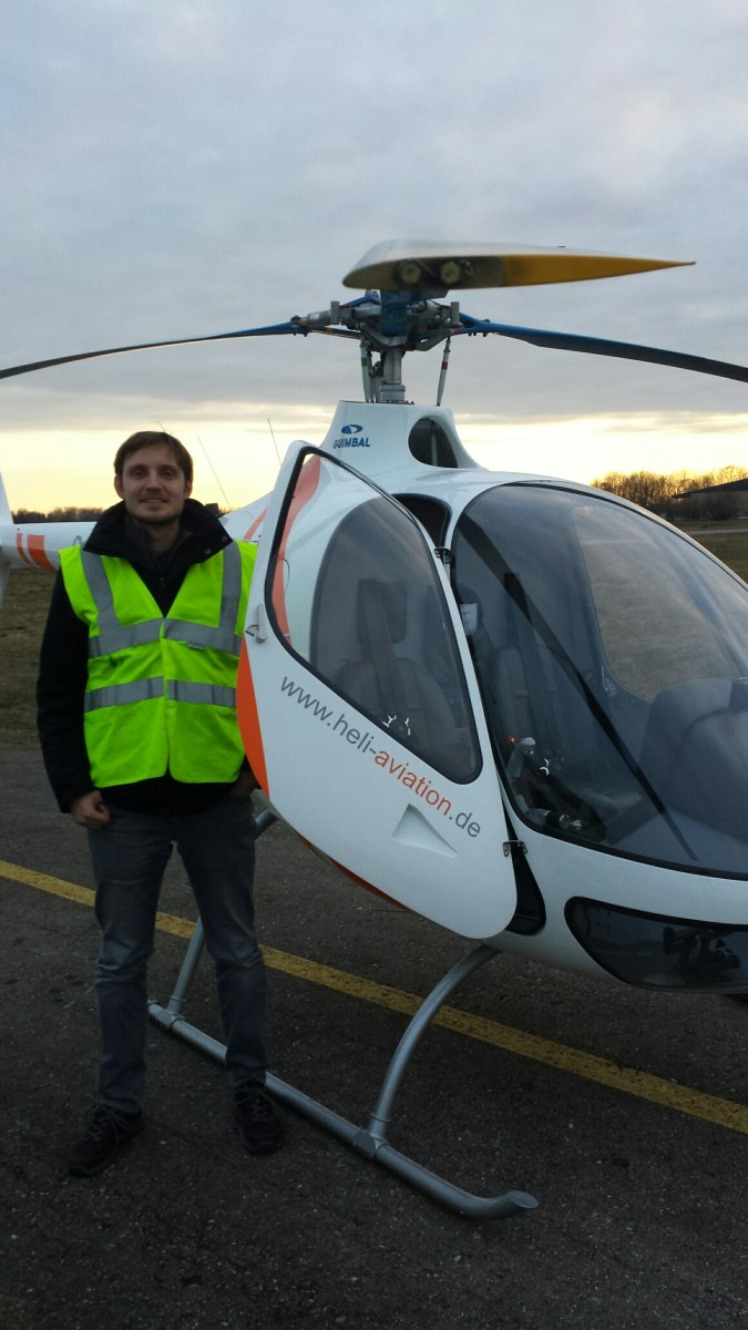 Me after my first solo flight in the Cabri G2.