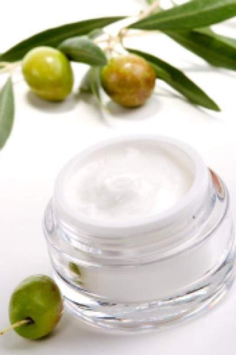 Olive oil is added to many skin care products.
