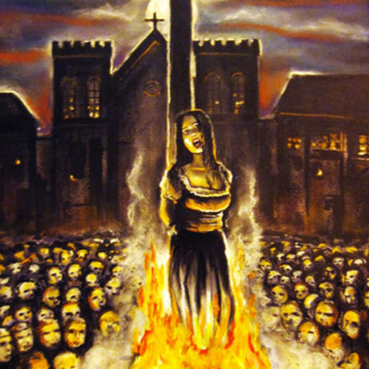 Christians burned Pagans who refused to convert