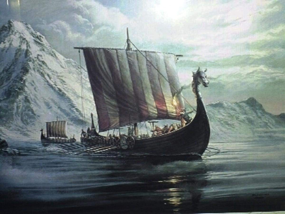 A Viking long ship
