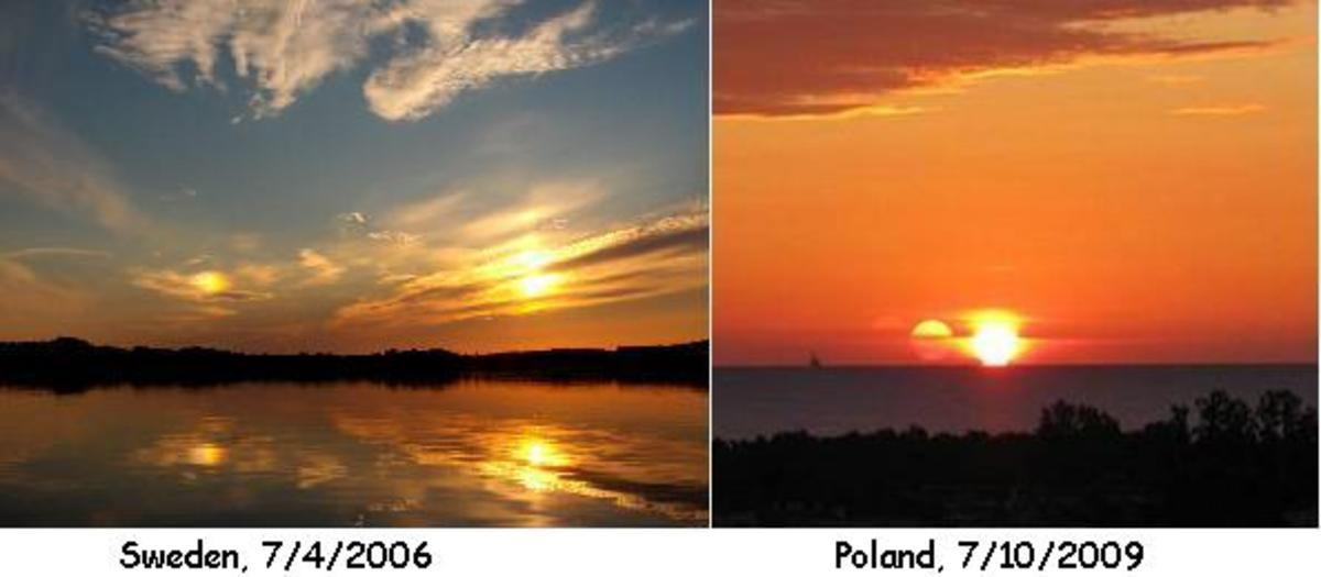 There are many images on the internet of second suns but when you have one that shows a reflection on water it is much more difficult to fake.