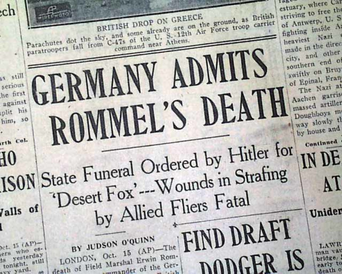 Report of Rommel's death