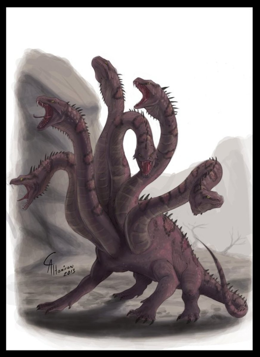 The Lernaean Hydra and Heracles in Greek Mythology