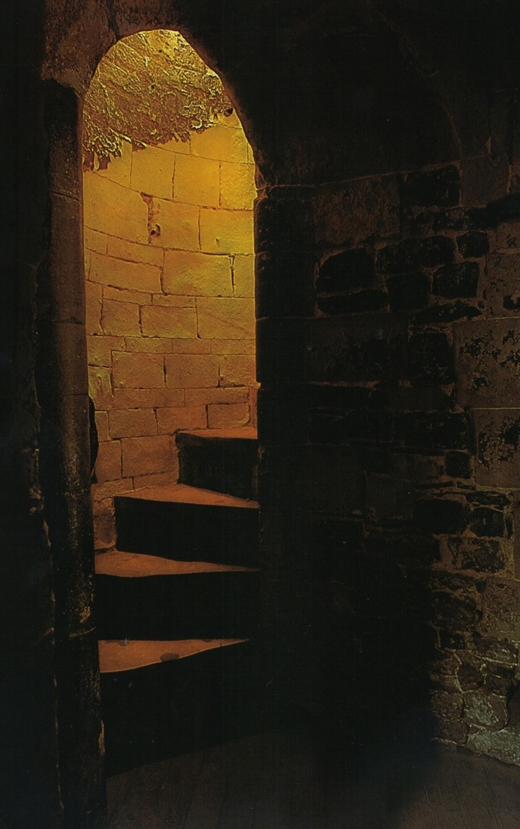 The Tower of London steps where the remains of the children were found...