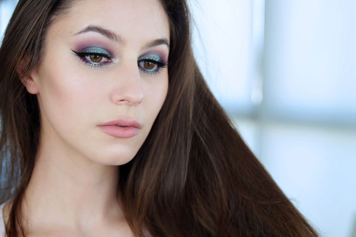 Natural-looking mermaid makeup