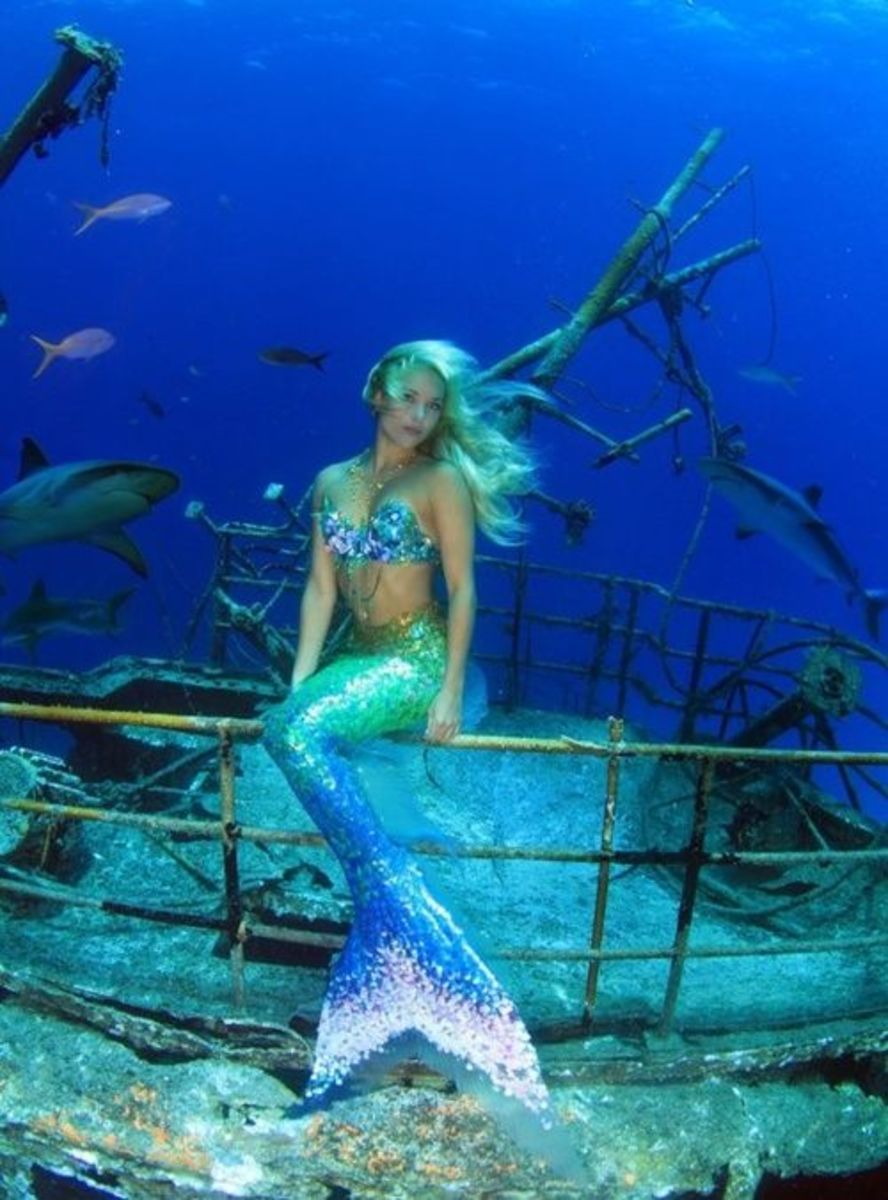 A beautiful mermaid