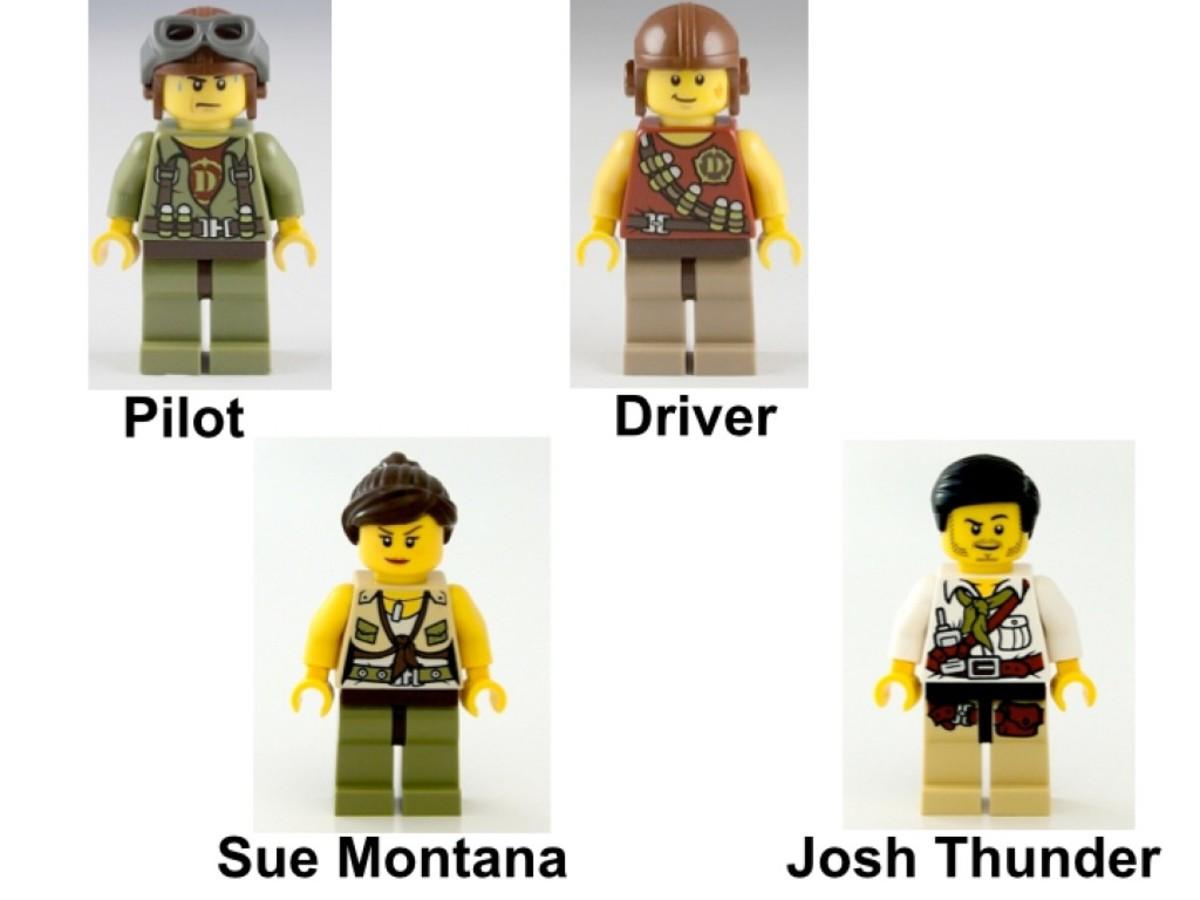 LEGO Dino Dino Defense HQ 5887 Minifigures