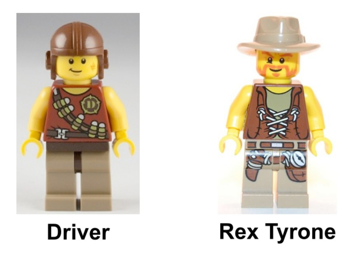 LEGO Dino Raptor Chase 5884 Minifigures