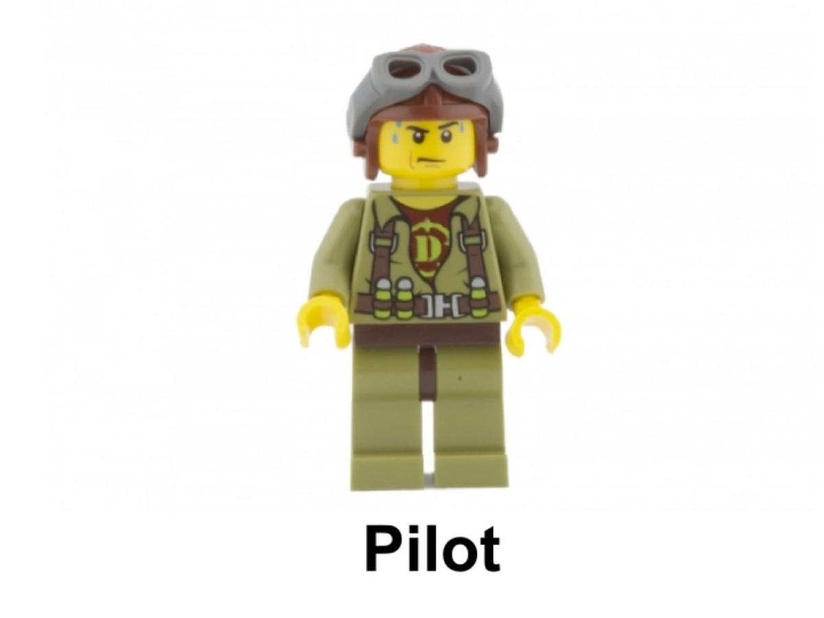 LEGO DIno Tower Takedown 5883 Pilot Minifigure
