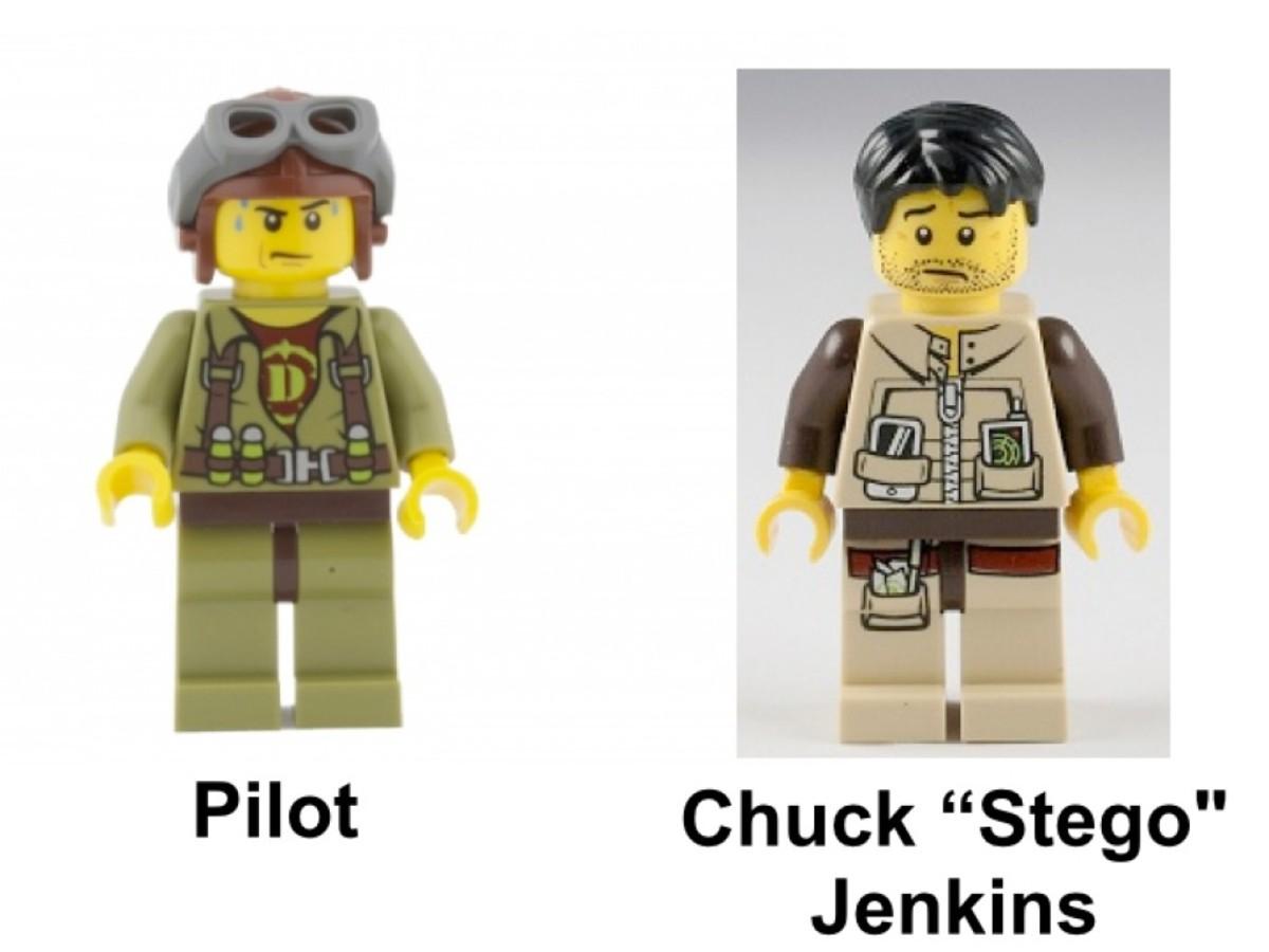 LEGO Dino T-Rex Hunter 5886 Minifigures