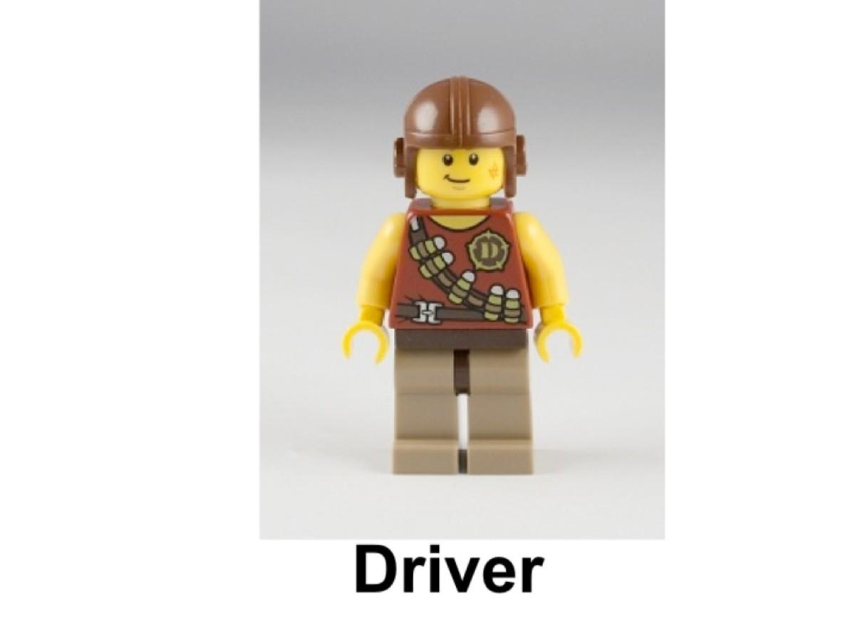 LEGO Dino Ambush Attack 5882 Driver Minifigure